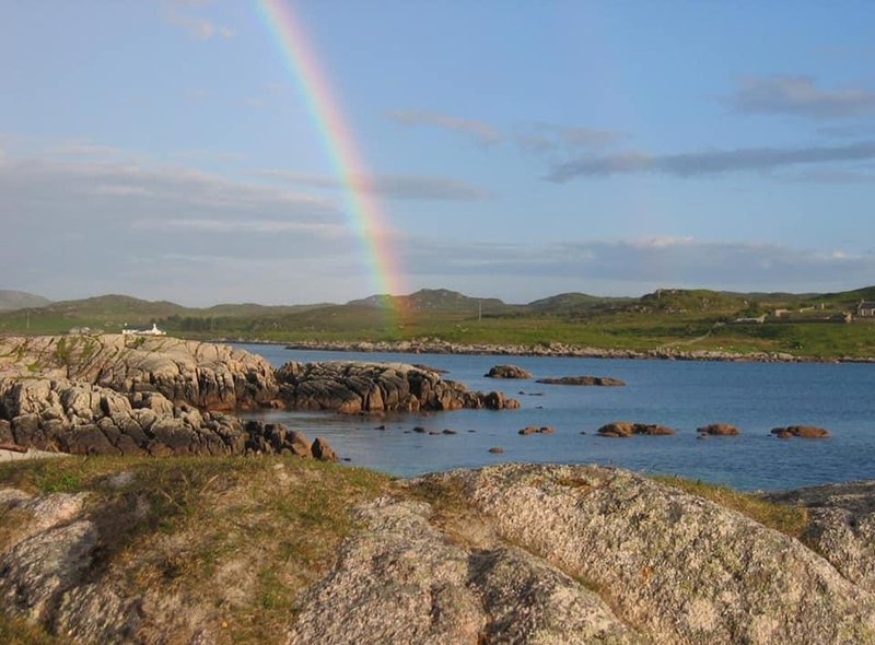 Jan Birse was in the right place at the right time to photograph this rainbow over Fidden Farm, in Mull.