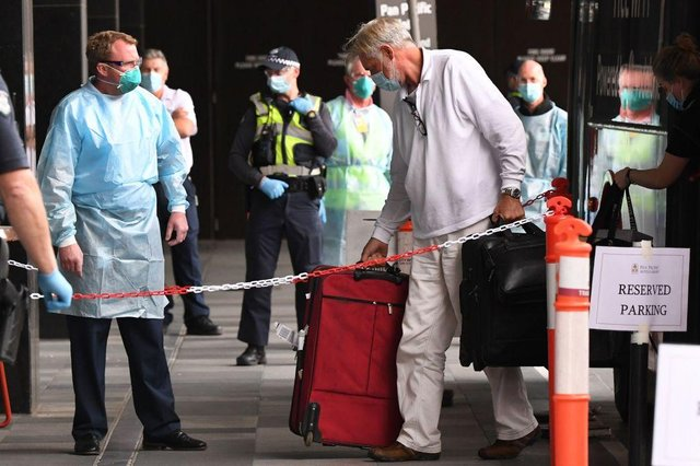 Australia and New Zealand have run quarantine hotels, paid for by the self-isolating guests, since the start of the pandemic. (Photo by William WEST / AFP)