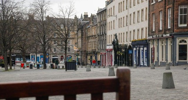 Pubs on Edinburgh's Grassmarket have been among those forced to shut down