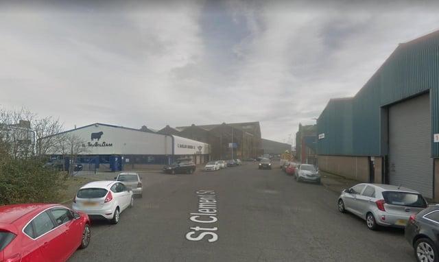 St Clement Street, Aberdeen, where the cars were seen on fire.