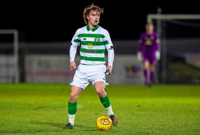 Luca Connell in action during a Glasgow Cup match against Partick Thistle. Picture: SNS