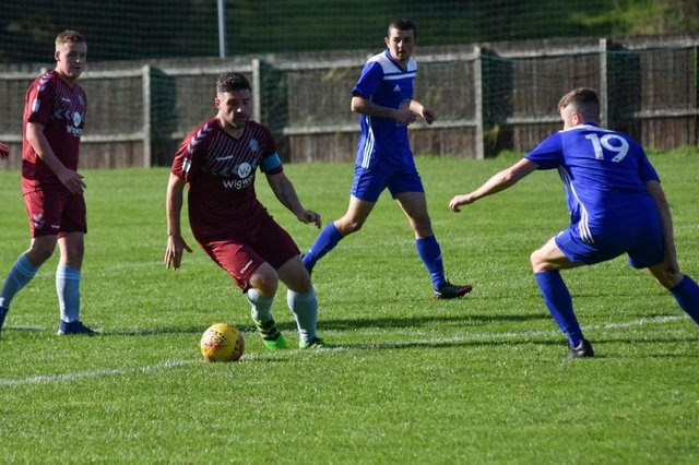 Cumbernauld United in action against Kirkintilloch Rob Roy in the West of Scotland League earlier in the season. The campaign is now null and void.