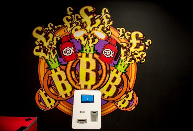 A Bitcoin ATM. Picture: John Devlin.