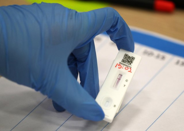 Positive lateral flow test results are confirmed by PCR tests.