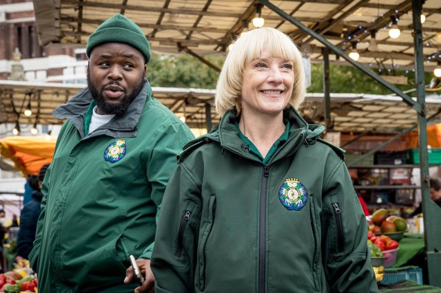 Samson Kayo and Jane Horrocks are a mercy-wagon odd couple in the paramedics comedy Bloods