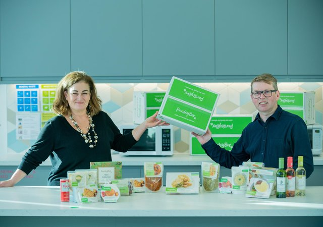 Adrienne MacAulay, founder and head of product, with Mr Dorren. Picture: Sandy Young.