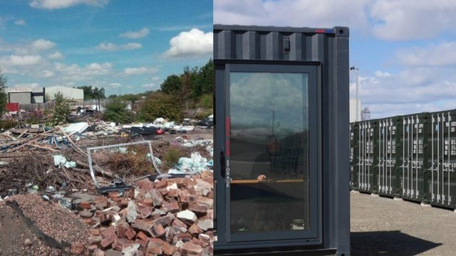Before the site at Myregormie Place in Kirkcaldy was previously dubbed 'Fife's worst fly-tipping site' however now it has been fully transformed by new owner North Star Storage (Photo: North Star Storage).