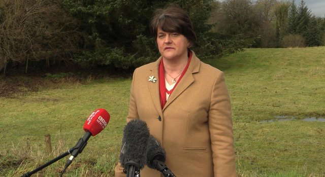 Northern Ireland's First Minister Arlene Foster. Picture: Cate McCurry/PA Wire