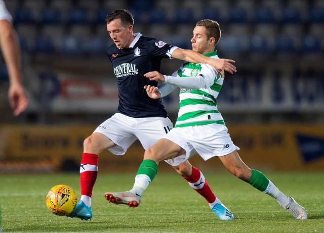 Falkirk playing against Celtic colts in the Challenge Cup second round in 2019. Picture: SNS
