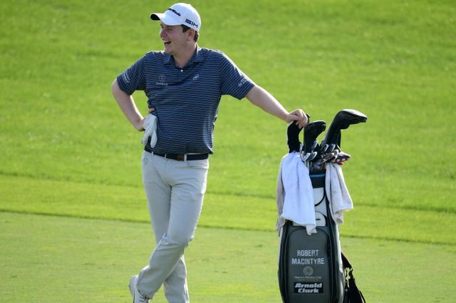 A smiling Bob MacIntyre during the Golf in Dubai Championship at Jumeirah Golf Estates last December. Picture: Ross Kinnaird/Getty Images.