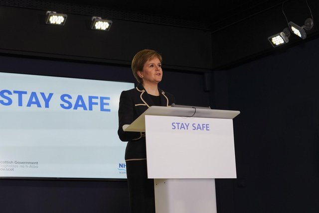 First Minister Nicola Sturgeon will give a Covid-19 update.