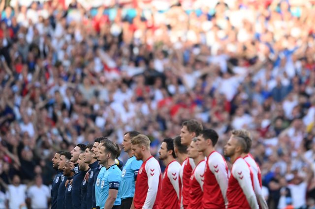 England have been charged by UEFA after fans booed during the Denmark national anthem ahead of the Euro 2020 semi-final at Wembley.