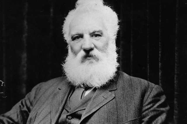 Scottish inventor Alexander Graham Bell (1847-1922 ) PIC: Topical Press Agency/Getty Images