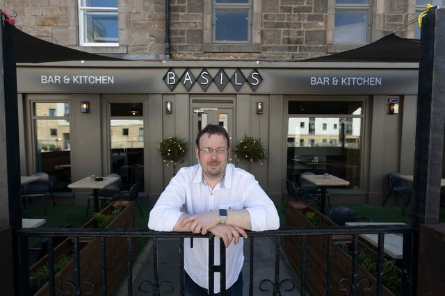 Basils in Newhaven Edinburgh. Pictured is operations manager Ross Edgar. Picture: Mark F Gibson/Gibson Digital