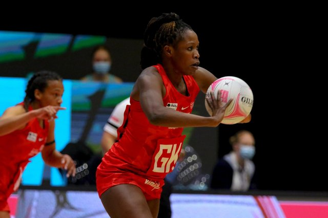 Strathclyde Sirens goal keeper Towera Vinkhumbo has been in fine form. Picture: Ben Lumley