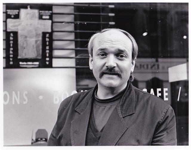 Chris Carrell bronił zaangażowania społeczności (prawa autorskie do zdjęć: Alan Wylie, 1989)