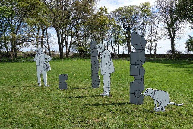 The sculptures by Mick Peter are the first of a series of new works to be unveiled at Hospitalfield this year.