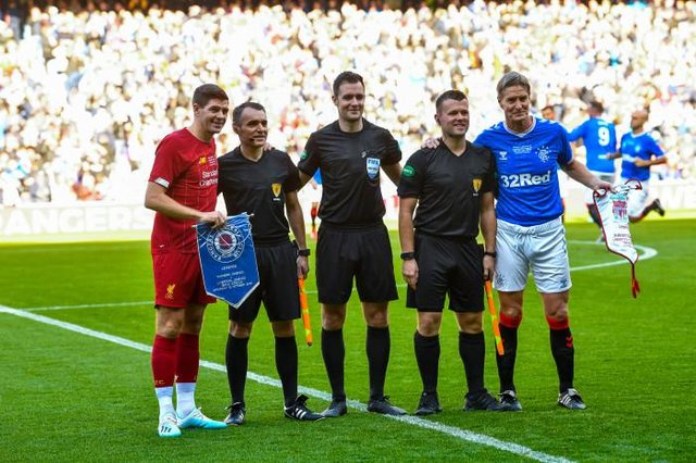 Could Belgium's proposals bring more frequent scenes like this Legends game between Liverpool and Rangers a step closer in reality? (Photo by Rob Casey / SNS Group)