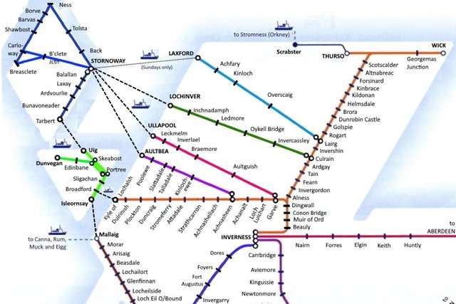 The imagined Highland rail network. Picture: Andrew Drummond.