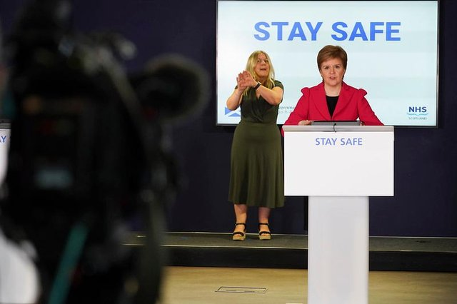 Nicola Sturgeon has made several Covid-19 announcements in front of TV cameras