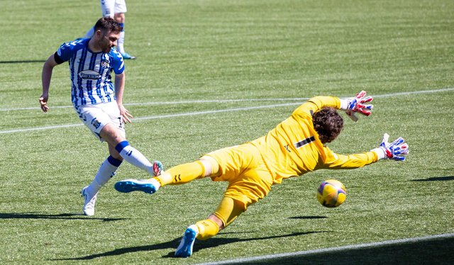 Greg Kiltie was on the scoresheet for Kilmarnock in the win over Montrose. Picture: SNS
