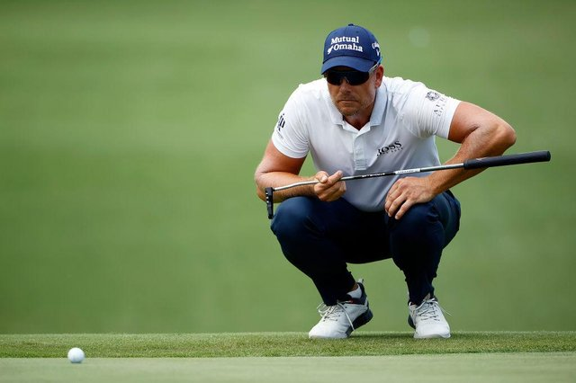 Henrik Stenson lines up his putt during last week's Charles Schwab Challenge at Colonial Country Club in Fort Worth, Texas. Picture: Tom Pennington/Getty Images.