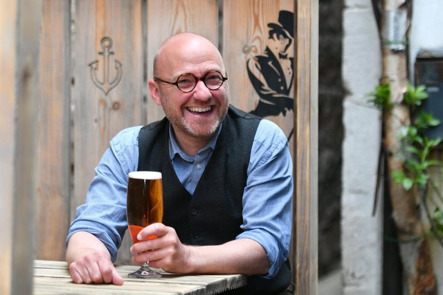 Patrick Harvie, seen visiting a Glasgow bar after lockdown restrictions were eased, may demand considerable influence in government before agreeing to form a coalition with the SNP (Picture: John Devlin)