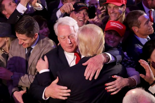 President Donald Trump hugging his brother Robert (Photo: Chip Somodevilla/Getty Images)