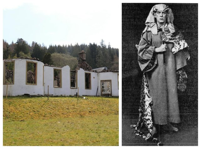 Boleskine House at Foyers near Loch Ness, the former home of occultist Aleister Crowley, will be restored after plans were approved to rebuild the 18th Century property and open 10 'hobbit style' holiday homes in the grounds. PIC: SWNS/CC.