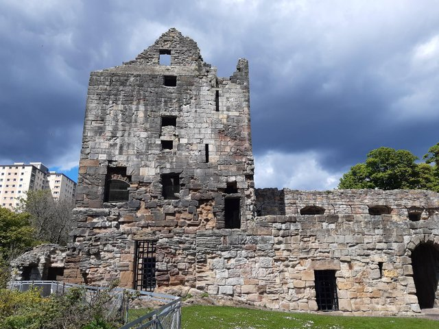 Ravenscraig Castle in Kirkcaldy is being damaged by vandals who are congregating at the historic site at night. PIC: Allan Crow
