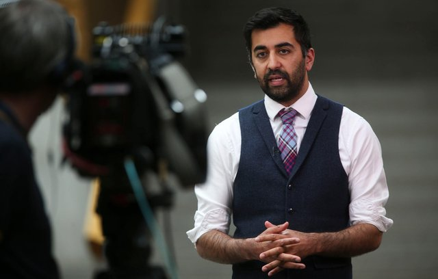 Justice Secretary Humza Yousaf has defended the Hate Crime Bill against claims it will affect freedom of speech (Picture: Fraser Bremner/Scottish Daily Mail/pool/PA)