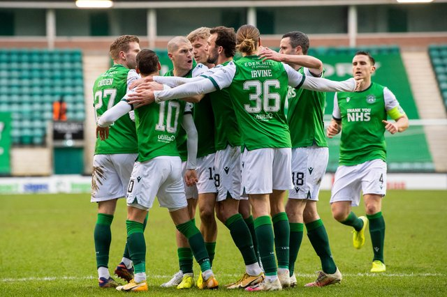 Hibs owner Ron Gordon wants the sight of the Leith club celebrating to become commonplace as he refuses to limit ambitions. Photo by Ross Parker / SNS Group