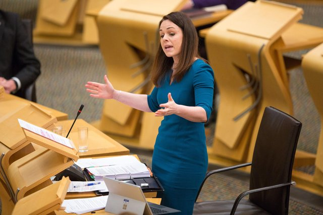 Finance secretary Kate Forbes as she delivers the Scottish Budget to the Scottish Parliament. Picture: Robert Perry/PA Wire