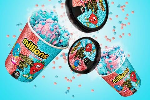 The Millions Ice Cream has been launched in one-litre pots.