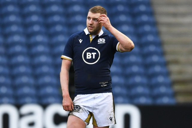 Finn Russell in unlikely to play against Italy after suffering concussion in the defeat by Ireland. Picture: Ross MacDonald/SNS