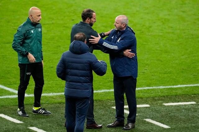 Steve Clarke and Gareth Southgate at Wembley.