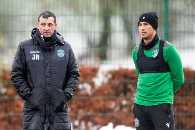 Hibs manager Jack Ross is delighted that Joe Newell has commited himself to the Easter Road cub for at least another two years. Photo by Mark Scates / SNS Group