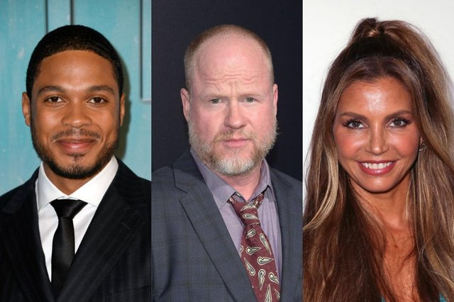 Ray Fisher (left) and Charisma Carpenter (right) have both accused Joss Whedon (centre) of being 'cruel' and inappropriate (Picture: Getty Images)