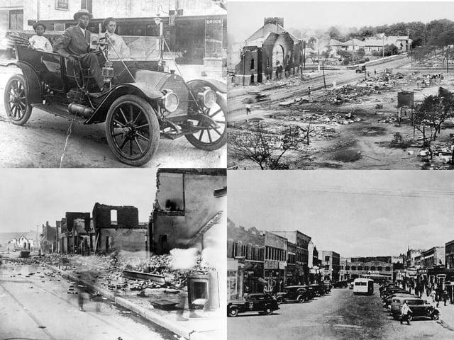 Greenwood was a flourishing neighbourhood before the Tulsa Race Massacre (Getty Images)