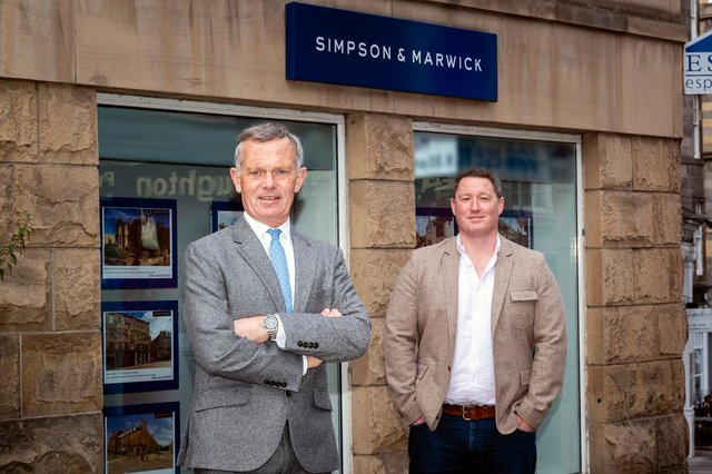 Partner Richard Loudon, who steps up to chairman after 41 years with the firm, alongside Rob Aberdein. Picture: Ian Georgeson Photography