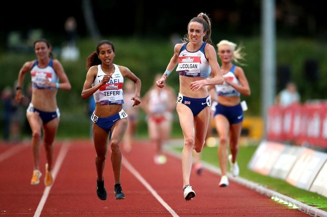 Eilish McColgan set a new record just days before heading to the Olympics. (Photo by Jan Kruger/Getty Images)