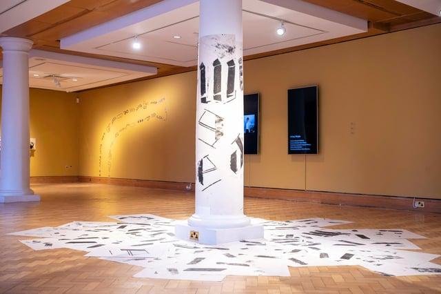Installation shot of work by Mark Bleakley at Platform 2020, presented by Edinburgh Art Festival PIC: Ian Georgeson