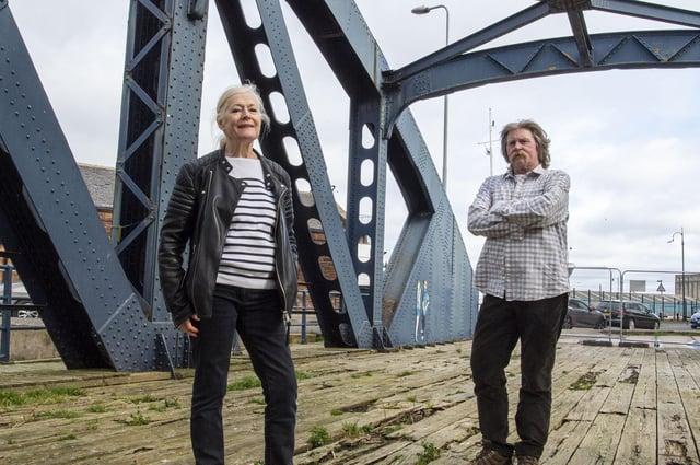 Liz Hare of Citadel Arts Group and author William Haddow PIC: Lisa Ferguson LISA FERGUSON