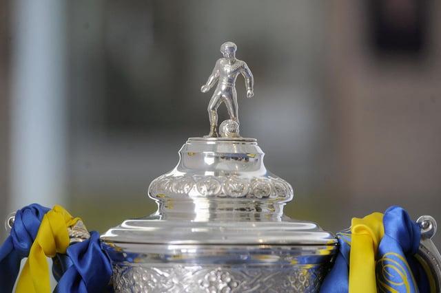 Picture Michael Gillen.  Scottish Cup trophy.