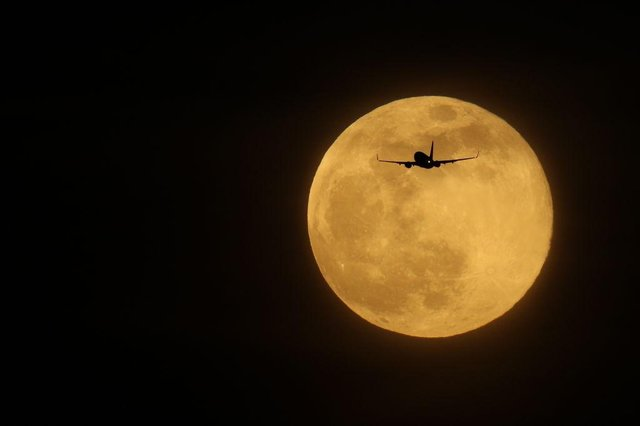 The largest Super Moon of 2019, known as the Super Snow Moon, appeared in February. Picture: Dan Kitwood/Getty Images