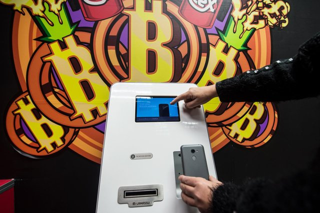 Cryptocurrencies such as Bitcoin have even found their way into automated teller machines. Picture: John Devlin