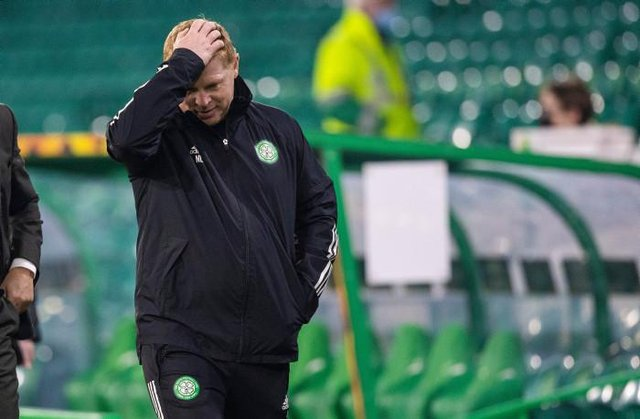Celtic manager Neil Lennon has seen his side crash out of the Champions League qualifiers, Europa League and Betfred Cup and sit 18 points off league leaders Rangers (Photo by Craig Williamson / SNS Group)