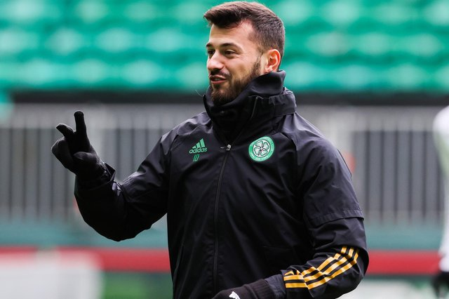 Celtic's Albian Ajeti at the club's last training session in Scotland before they head to Lille for Thursday's Europa League encounter (Photo by Alan Harvey / SNS Group)