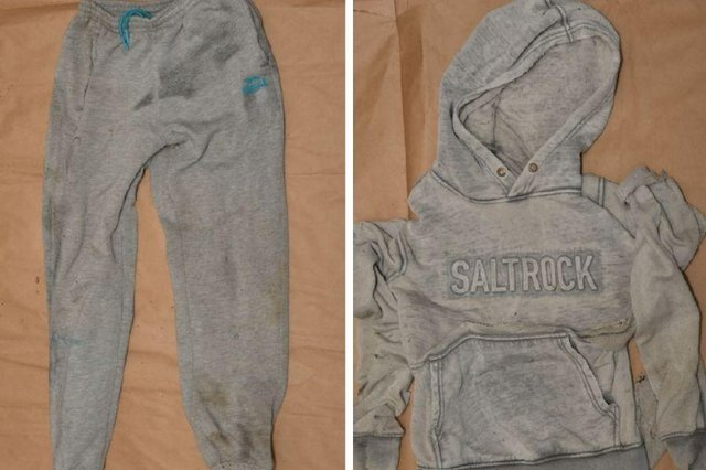 The man was wearing grey Lonsdale jogging trousers and a grey hooded Saltrock jumper.