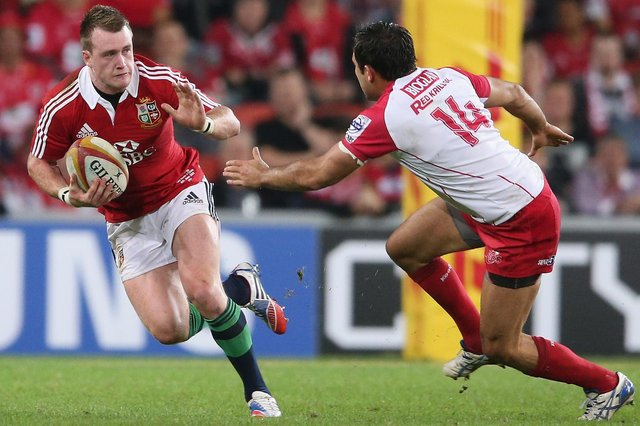 Stuart Hogg playing against Queensland Reds on the Lions' 2013 tour of Australia. Picture: David Rogers/Getty Images